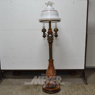 Stehlampe, Eiche, 2-flammig,