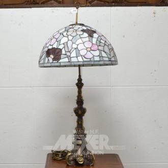 Beistell-Lampe, Fuß Messing bronziert,