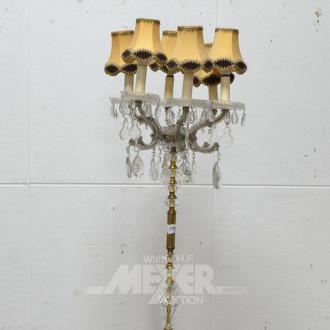 Stehlampe, Messing mit Prismen,