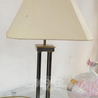 Tischlampe, Metall-Säulenfuß,