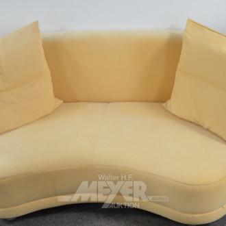 mod. Sofa, 2-sitzig, Bezug Stoff gelb,