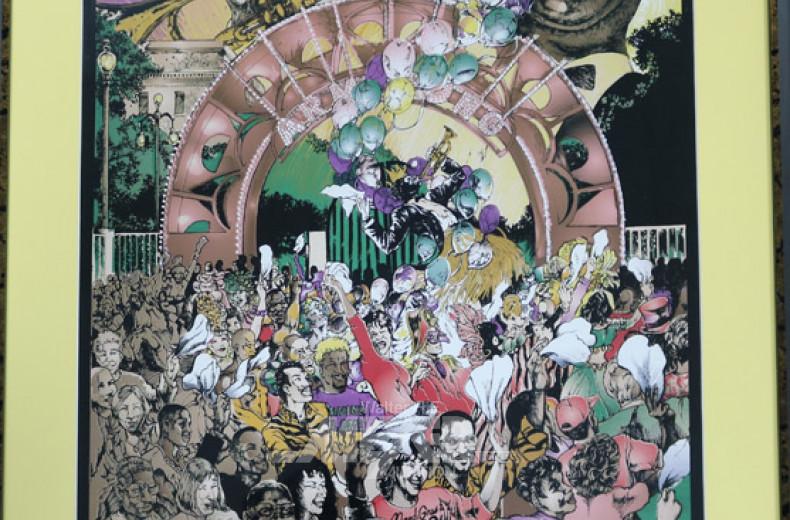 gr. Plakat ''New Orleans Mardi Gras,