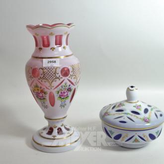 Vase und 1 Bonboniere