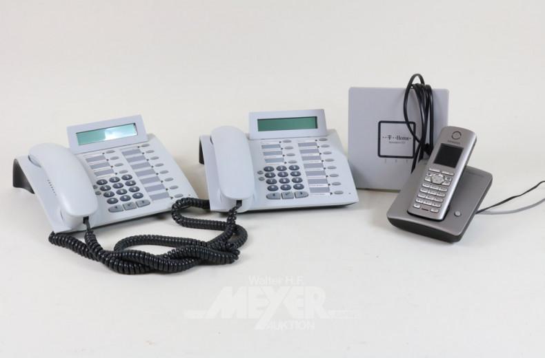 Telefonanlage, grau