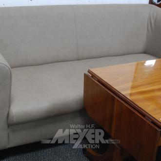 Sofa, 2-sitzig, Kunstleder grau