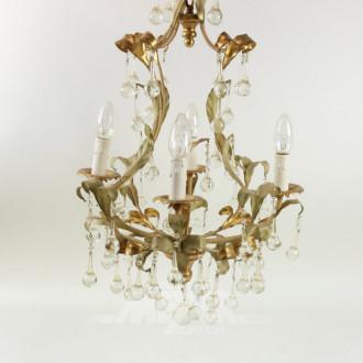 goldfarbene Deckenlampe, 4-flammig