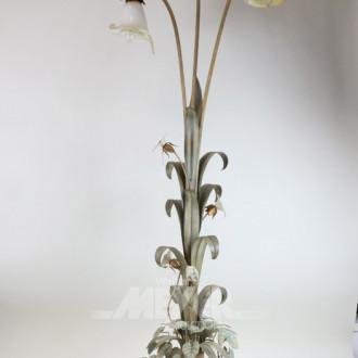 Stehlampe, 3-flammig, Liliendekor mit