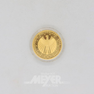 Goldmünze Euro 100,