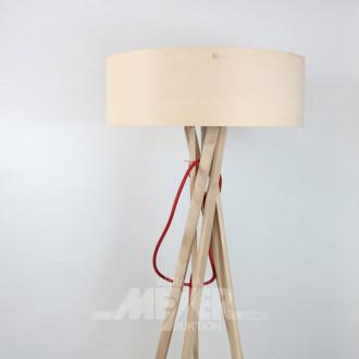 Holz-Stehlampe, Buche, 5-beinig mit