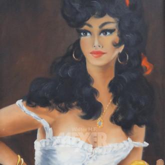 Gemälde ''Die Spanierin''