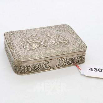 Tabatiere, Silber 800er, ca. 123 gr.