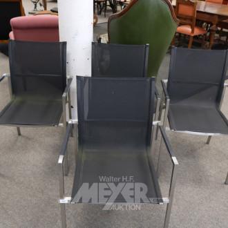 4 Gartenstühle, Aluminium