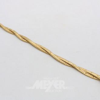 Armband, 750er GG, 2-reihig geflochten