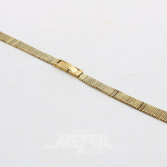 Damenuhren-Armband, 585er GG, ca. 11 gr.