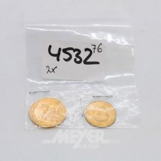 2 Goldmünzen ''2 Rand,  Georg IV''