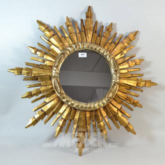 Sonnenspiegel, goldfarber Rahmen