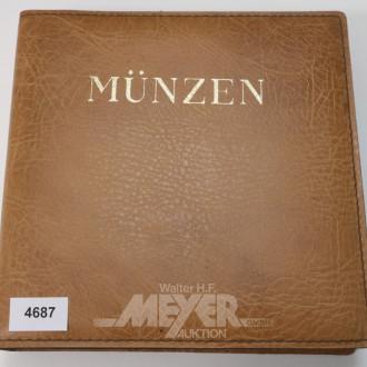 Münzalbum, u.a. DM/Pfennige und EURO