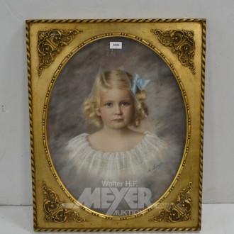 Bild ''Mädchen-Portrait'' bez. A.Lampe