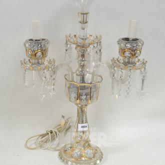 Kristall-Tischlampe, 2-flamig