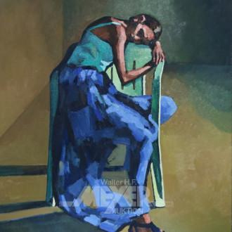 Gemälde ''Mädchen mit Stuhl''