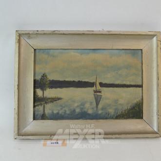 Gemälde ''Segelboot''