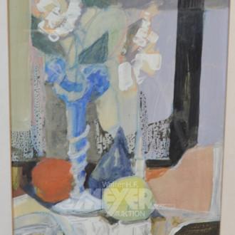 Gemälde ''Obststillleben mit Blumen''
