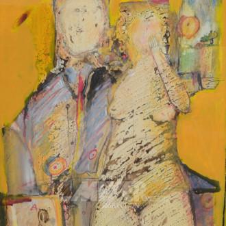 Gemälde/Mischtechnik, ''Das Paar''