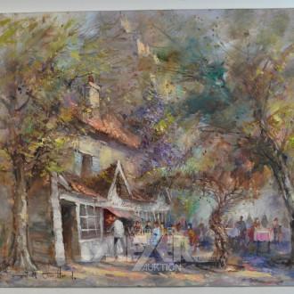 Gemälde ''Pariser Straßen-Kaffeehaus-