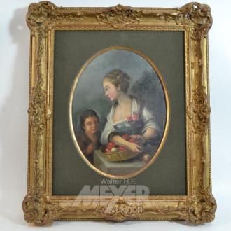 Gemälde ''Mutter und Kind mit Äpfeln''