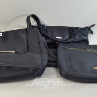 3 versch. Handtaschen