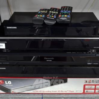 5 DVD- u. BluRay- Player, tls. -Recorder