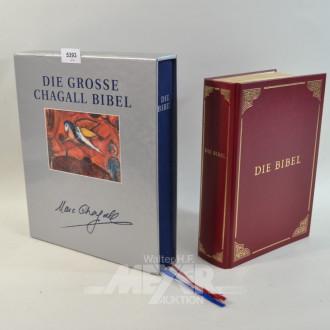 Chagall-Bibel und u. 1 mod. Bibel mit