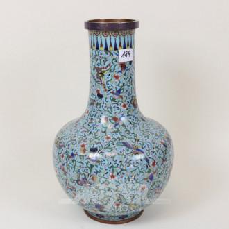 Cloisonné-Vase, vermutl. um 1900,