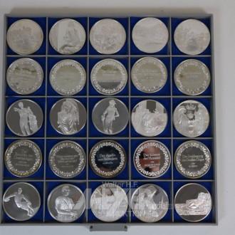 25 Silbermedaillien mit Ereignisprägungen,