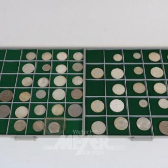 39 versch. Kursmünzen und Medaillen