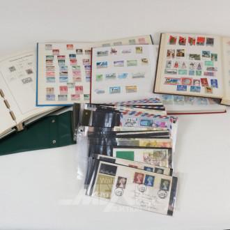 Posten versch. Briefmarkenalben