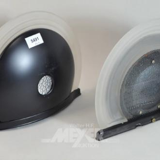 halbrunde Wandlampe, Metallgehäuse mit