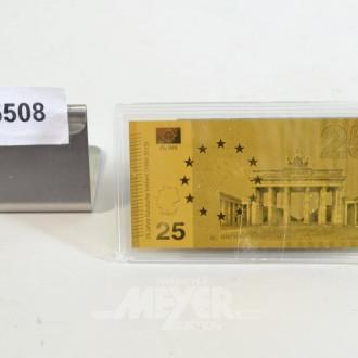 kl. Gedenk-Banknote, Brandenburger Tor,