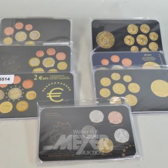 17 Euro-Gedenkmünzen-Sätze,