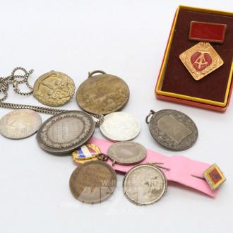 kl. Posten Abzeichen, Medaillen