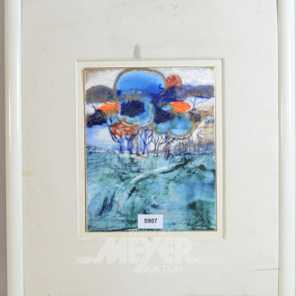 Keramik-Wandbild, ''Landschaft''