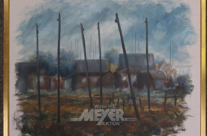 Gemälde, ''Dorfansicht''