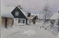 Gemälde, ''Dorfstraße im Winter'',