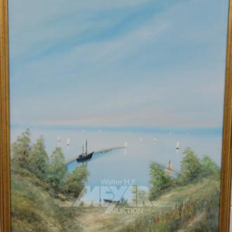 Gemälde, ''kl. Hafeneinfahrt'',
