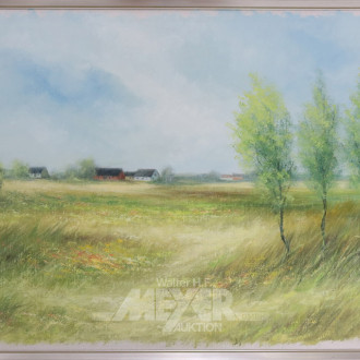 Gemälde, ''Landschaft mit Dorfansicht''