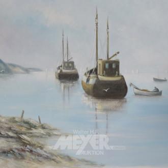 Gemälde, ''Fischerboote'',