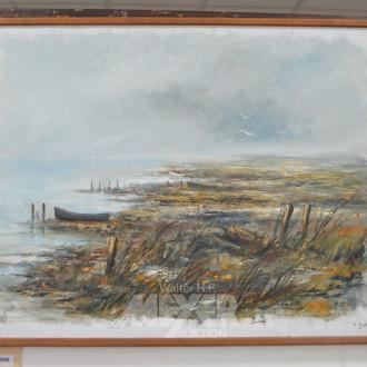 Gemälde, ''Vordeich-Landschaft'',