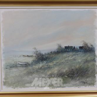 Gemälde, ''Fischerdorf'',