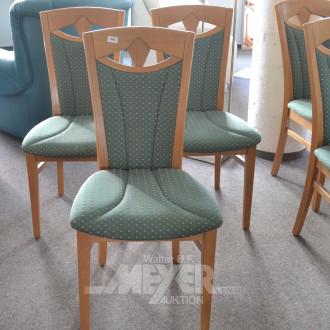 6 Esszimmerstühle, Buchedekor,