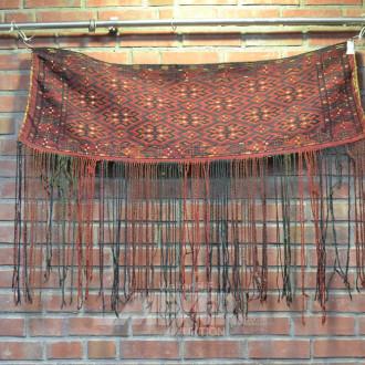 3 orientalische Satteltaschen und Decken,